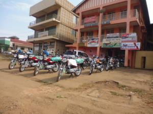 ウガンダ 中古バイク販売店